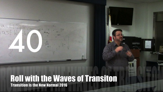Roll with the Waves of Transition from Transition is the New Normal 2016