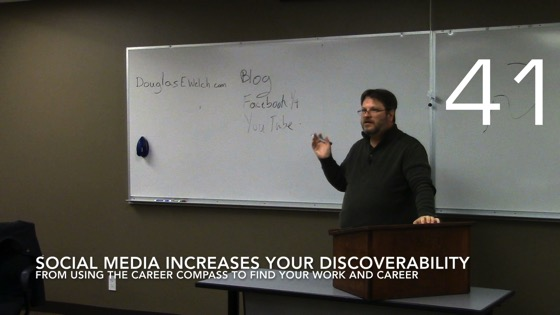 Social Media Increases Your Discoverability from Using the Career Compass To Find Your Career [Video] (0:48)