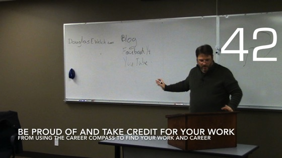 Be Proud of and Take Credit for Your Work from Using the Career Compass To Find Your Career