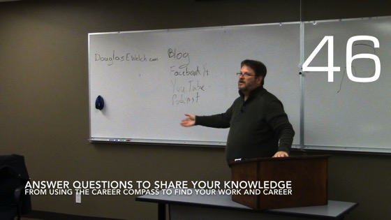 Answer Questions to Share Your Knowledge from Using the Career Compass To Find Your Work and Career