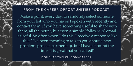 Work your contacts like a pro from the Career Opportunities Podcast [Audio]
