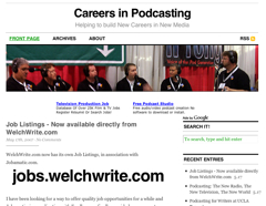 Careers in Podcasting Screenshot