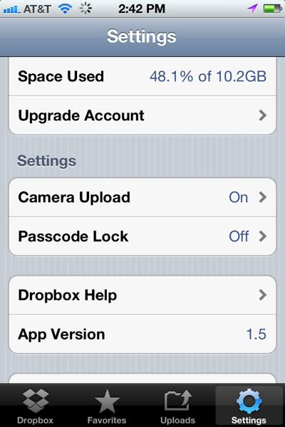 Dropbox iphone 2