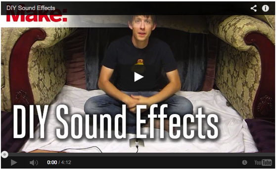 DIY Sound Effects via Make