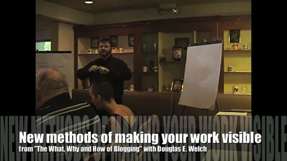 http://welchwrite.com/cip/2014/07/31/video-new-media-101-visibility-for-your-work-is-the-best-seo-from-the-what-why-and-how-of-blogging-with-douglas-e-welch/