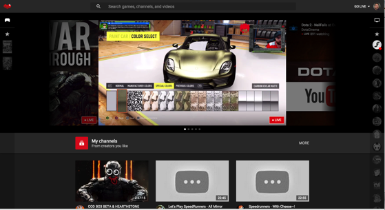 Youtube gaming web