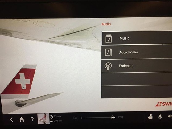 Swiss Air had podcasts! via Instagram