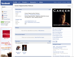 Career Opportunities on Facebook screenshot