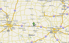 Google Map of Columbia, MO