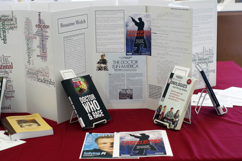 Stephens library display of Rosannes books
