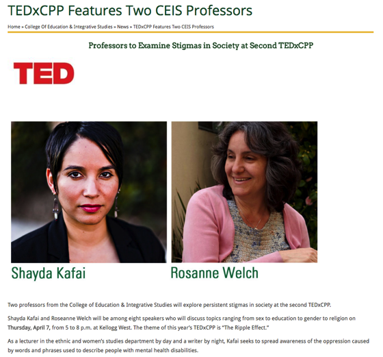TEDxCPP Features Two CEIS Professors