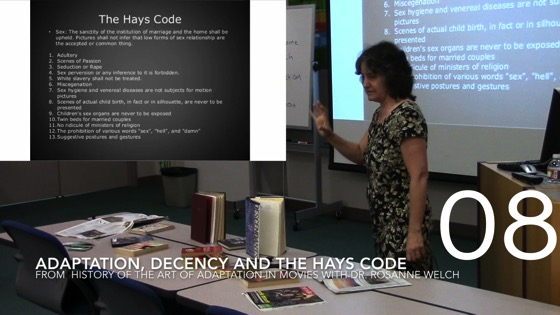 Adaptation, Decency and the Hays Code from A History of the Art of Adaptation