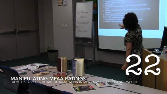 Manipulating MPAA Ratings from A History of the Art of Adaptation