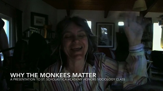 Why The Monkees Matter Presentation for St. Scholastica Academy Honors Sociology class [Video] (40:43)