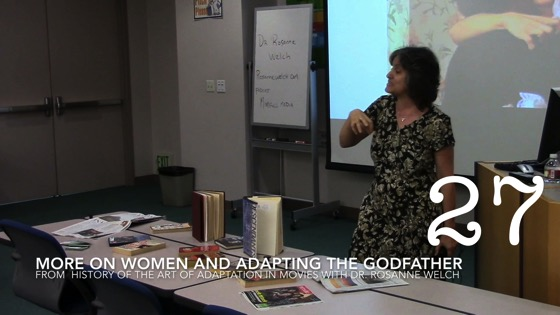 More On Women and Adapting The Godfather from A History of the Art of Adaptation