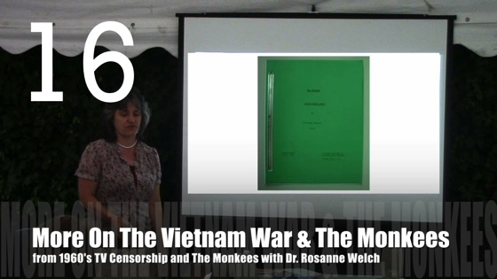 More On The Vietnam War and The Monkees from 1960's TV Censorship and The Monkees with Dr. Rosanne Welch [Video] (1:03)