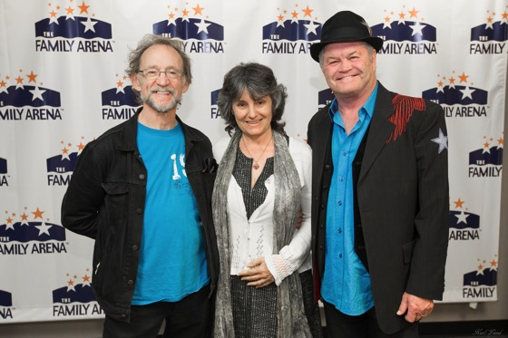 Dr. Rosanne Welch with Peter Tork and Micky Dolenz of The Monkees