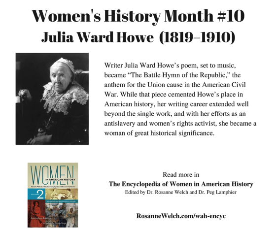 Women's History Month - 10 in a series - Julia Ward Howe