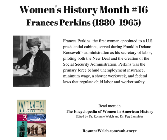 Women's History Month - 16 in a series - Frances Perkins