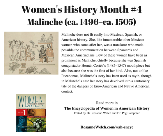 Women's History Month - 4 in a series - Malinche
