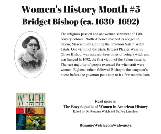 Women's History Month - 5 in a series - Bridget Bishop