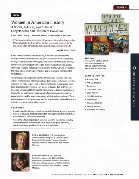 Women in American History : A Social, Political and Cultural Encyclopedia and Document Collection