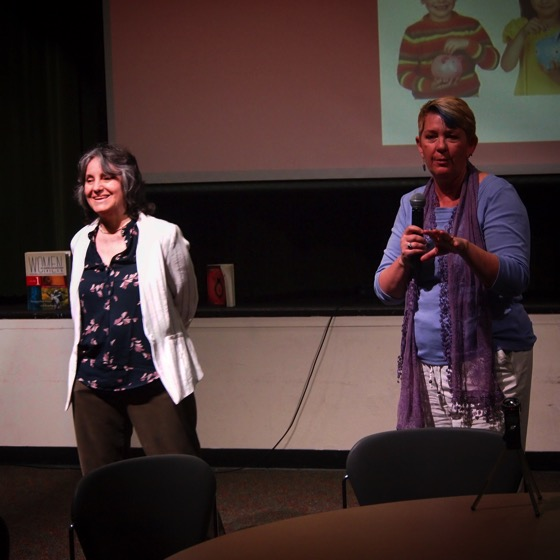 "Dr. Peg Lamphier and Dr. Rosanne Welch present their talk, ""Why this should be the last lecture you should sit through!"" as part of the Last Lecture Series at Cal Poly Pomona."