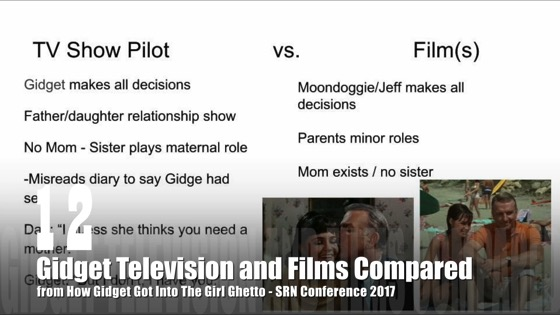 12 Gidget Television and Films Compared from How Gidget Got Into the Girl Ghetto [Video] (1:07)