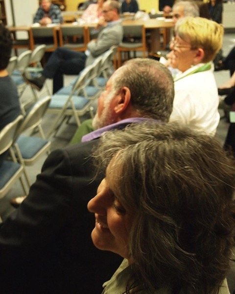Myself and Peg Lamphier (in background) at Cal Poly Pomona Golden Leaves presentations via My Instagram