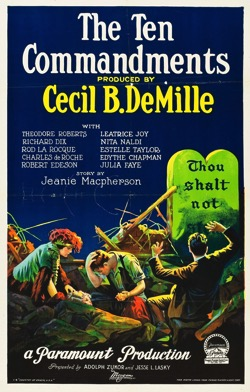 When Women Wrote Hollywood  - 3 in a series - The Ten Commandments (1923), Wr: Jeanie Macpherson, Dirs: Cecil B. DeMille, USA 136 mins
