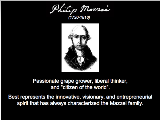 "Passionate grape grower, liberal thinker, and ""citizen of the world"". Best represents the innovative, visionary, and entrepreneurial spirit that has always."