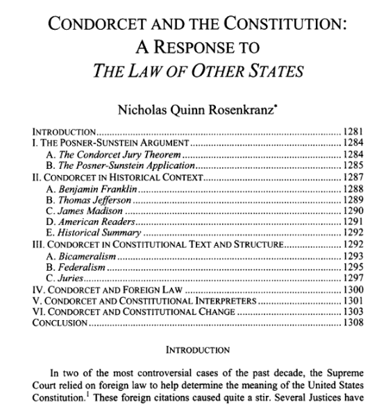 More on Mazzei: Condorcet and the Constitution: A Response to