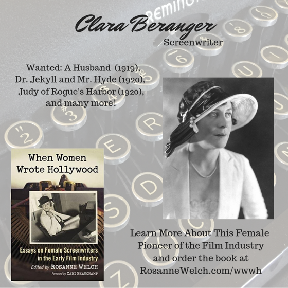 When Women Wrote Hollywood - 26 in a series - Clare Beranger
