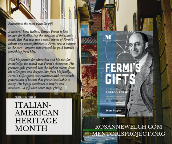 Fermi's Gifts: A Novel Based on the Life of Enrico Fermi By Kate Fuglei - Italian-American Heritage Month - 4 in a series