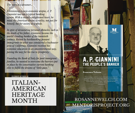 A.P. Giannini, The People's Banker By Francesca Valente - Italian-American Heritage Month - 12 in a series