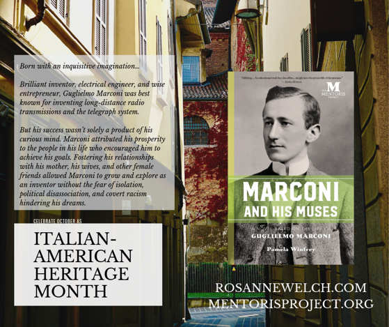 Marconi and His Muses: A Novel Based on the Life of Guglielmo Marconi By Pamela Winfrey - Italian-American Heritage Month - 15 in a series