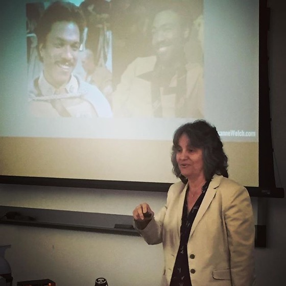 "Rosanne Speaks on ""How Star Wars Changed Films Forever"" at Cal Poly Pomona's University Library via Instagram"