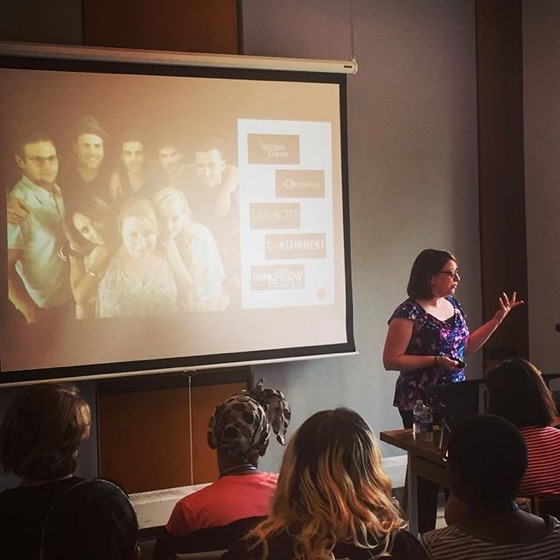 Jennifer Anne Martin presents on Julie Plec via Instagram