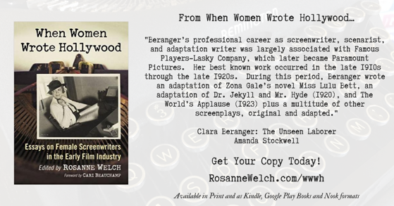 Quotes from When Women Wrote Hollywood - 16 in a series - The Unseen Laborer