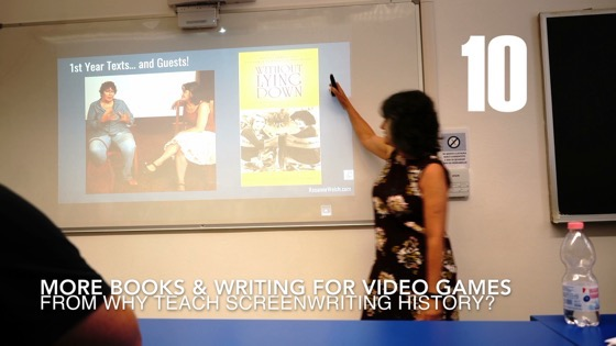 10 More Textbooks and Writing For Video Games from Why I Created a History of Screenwriting Course [Video] (46 seconds)q