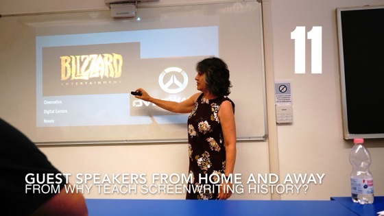 Guest Speakers Home & Away from Why (and How) I Created a History of Screenwriting Course [Video] (51 seconds)