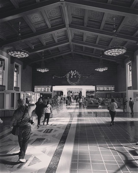 My Los Angeles 76 - Union Station at Christmas via Instagram