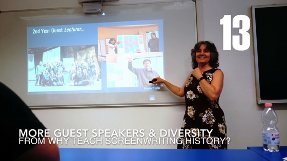 13 More Guest Speakers and Diversity from Why (and How) I Created a History of Screenwriting Course
