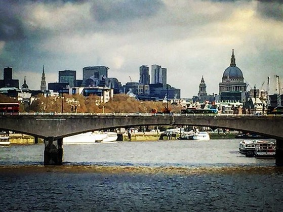 A cloudy day in London Town... via Instagram