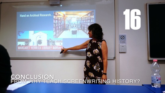 16 Conclusion from Why (and How) I Created a History of Screenwriting Course [Video] (2 minutes)