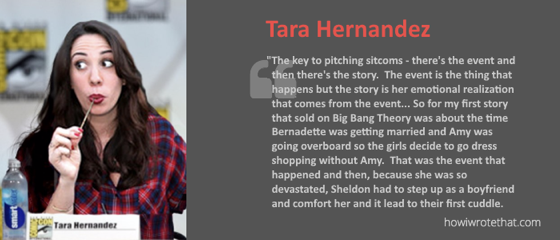 Listen to the latest How I Wrote That Podcast with Tera Hernandez of The Big Bang Theory [Audio]