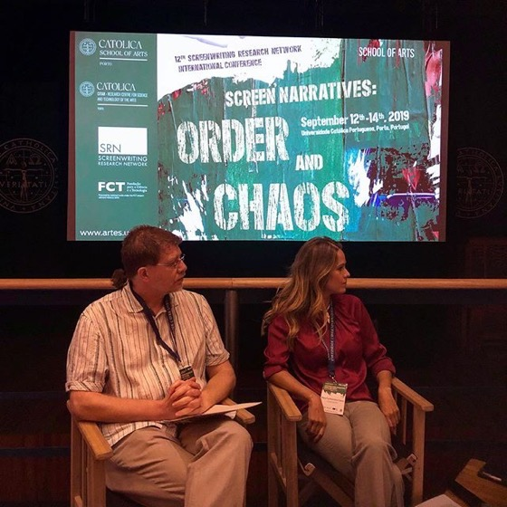 Paolo Russo and Maria Guilhermina Castro, SRN Conference, Porto, Portugal