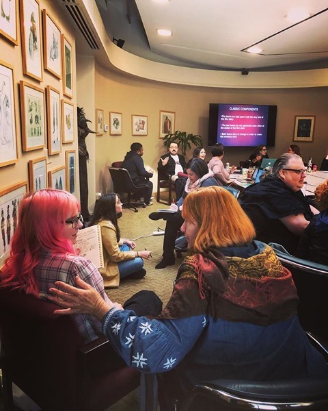 At The Stephens College MFA in TV and Screenwriting Winter Workshop via Instagram