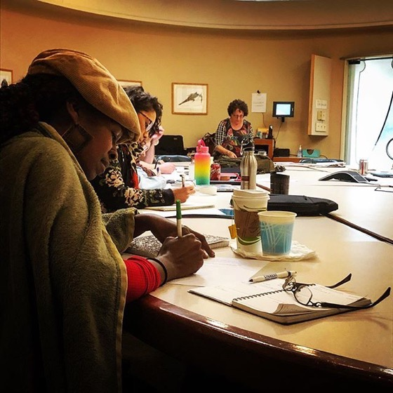 JoAnn Brahney Presents On Creativity Styles At Stephens College MFA in TV and Screenwriting Winter Workshop via Instagram