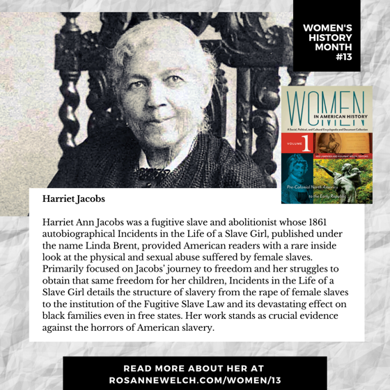 Women's History Month 13: Harriet Jacobs